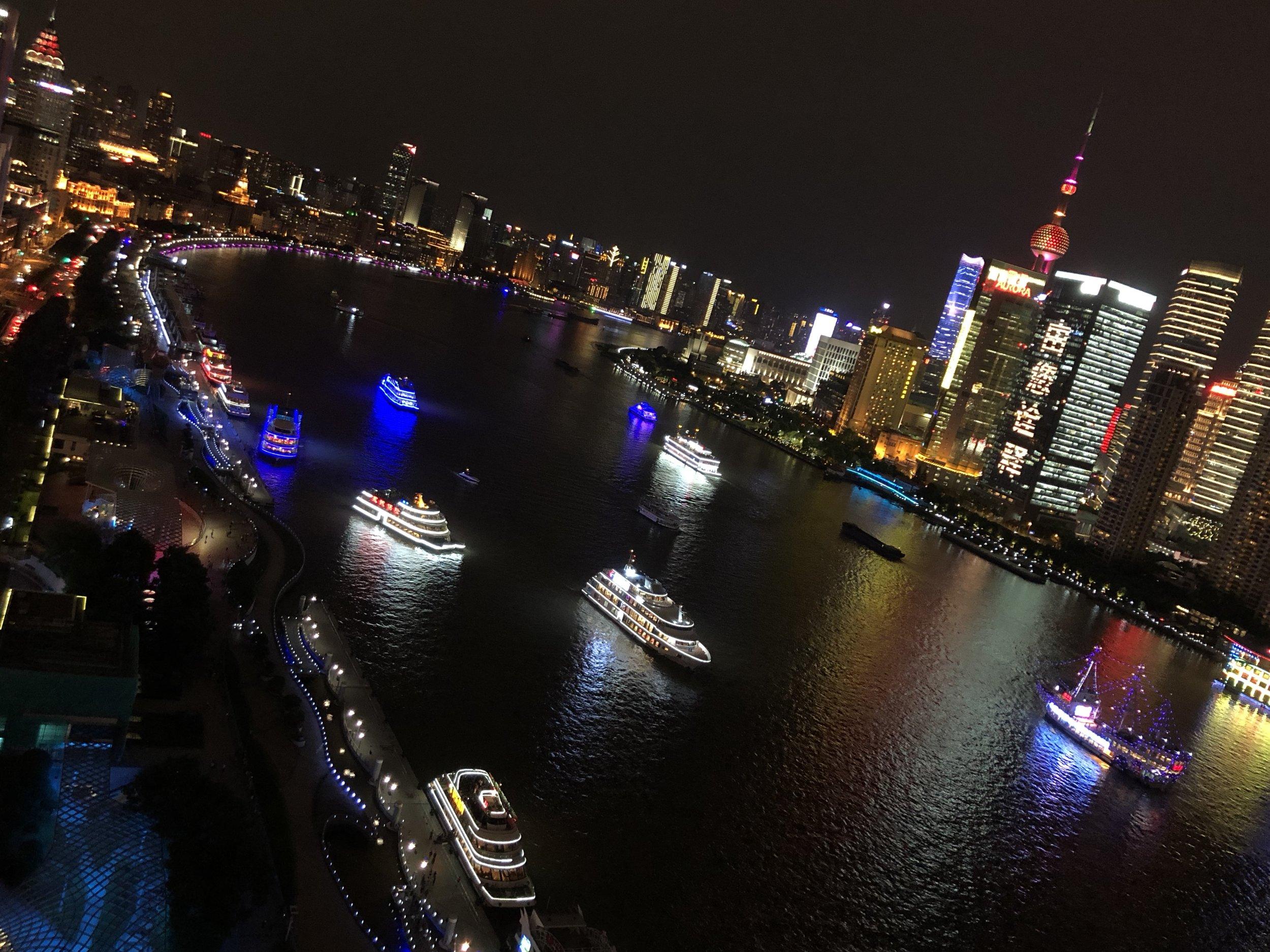 View of Shanghai's Huangpu River near San W Gallery at the Bund Financial Centre  Photograph Vicki Mason