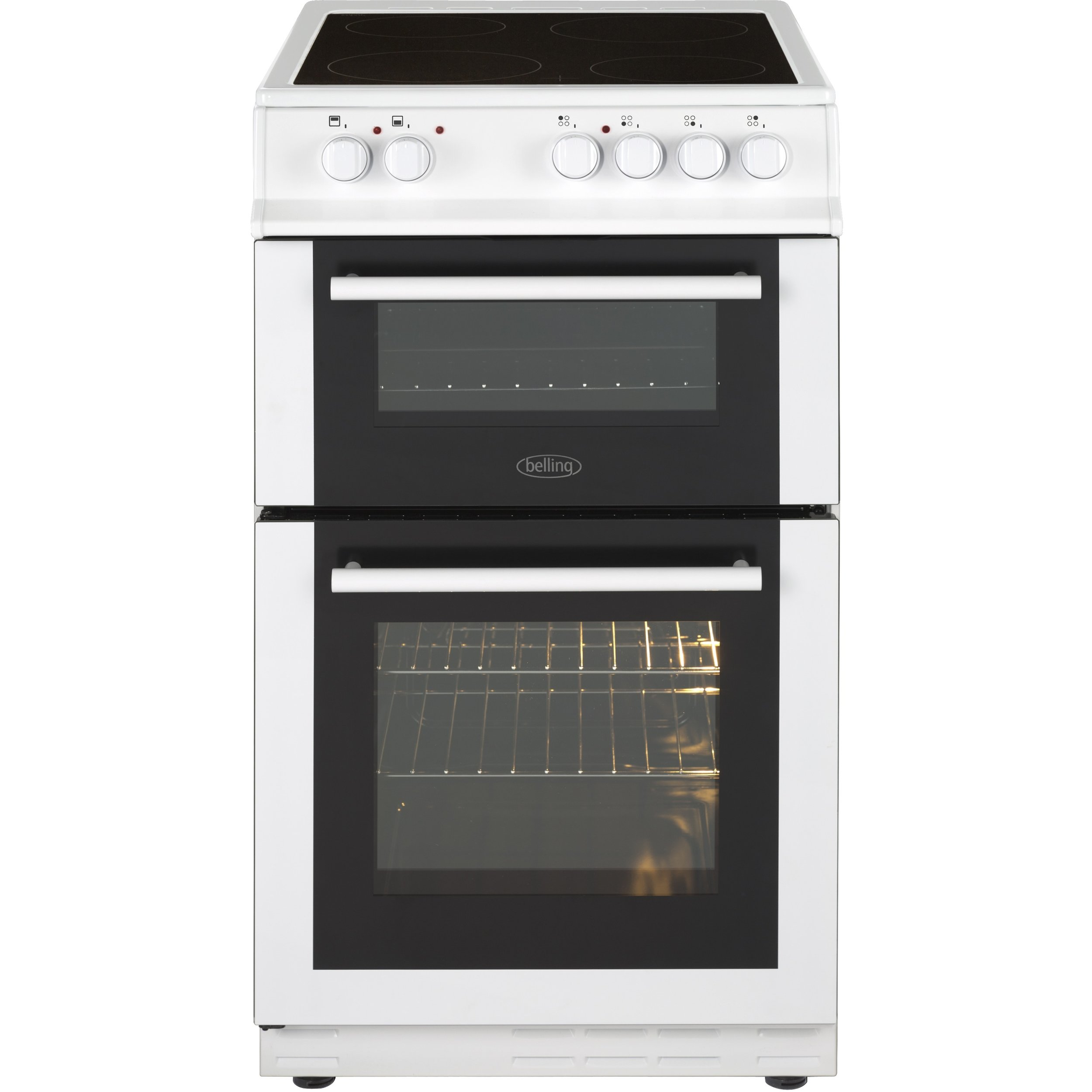 Belling 50cm Electric Cooker  Price:  £359.99   The Belling FS50EDOFCWHI electric cooker is 50 cm wide, which is perfect if space is limited. It is also freestanding, so you have the flexibility to position it wherever you like in your kitchen.   Buy now