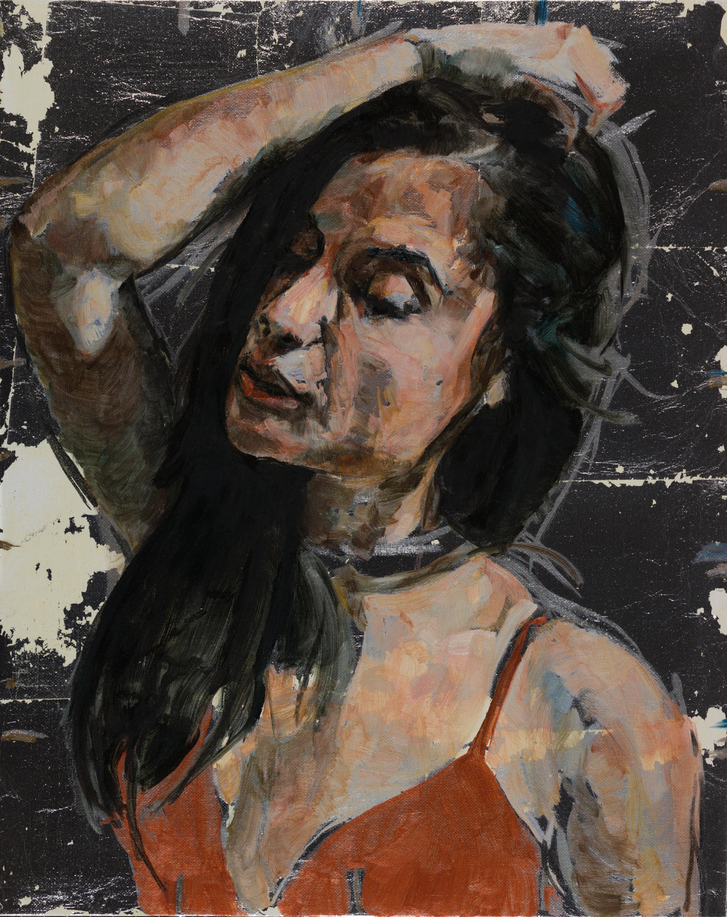 Crista, Oil Minstrel in Red No. 3
