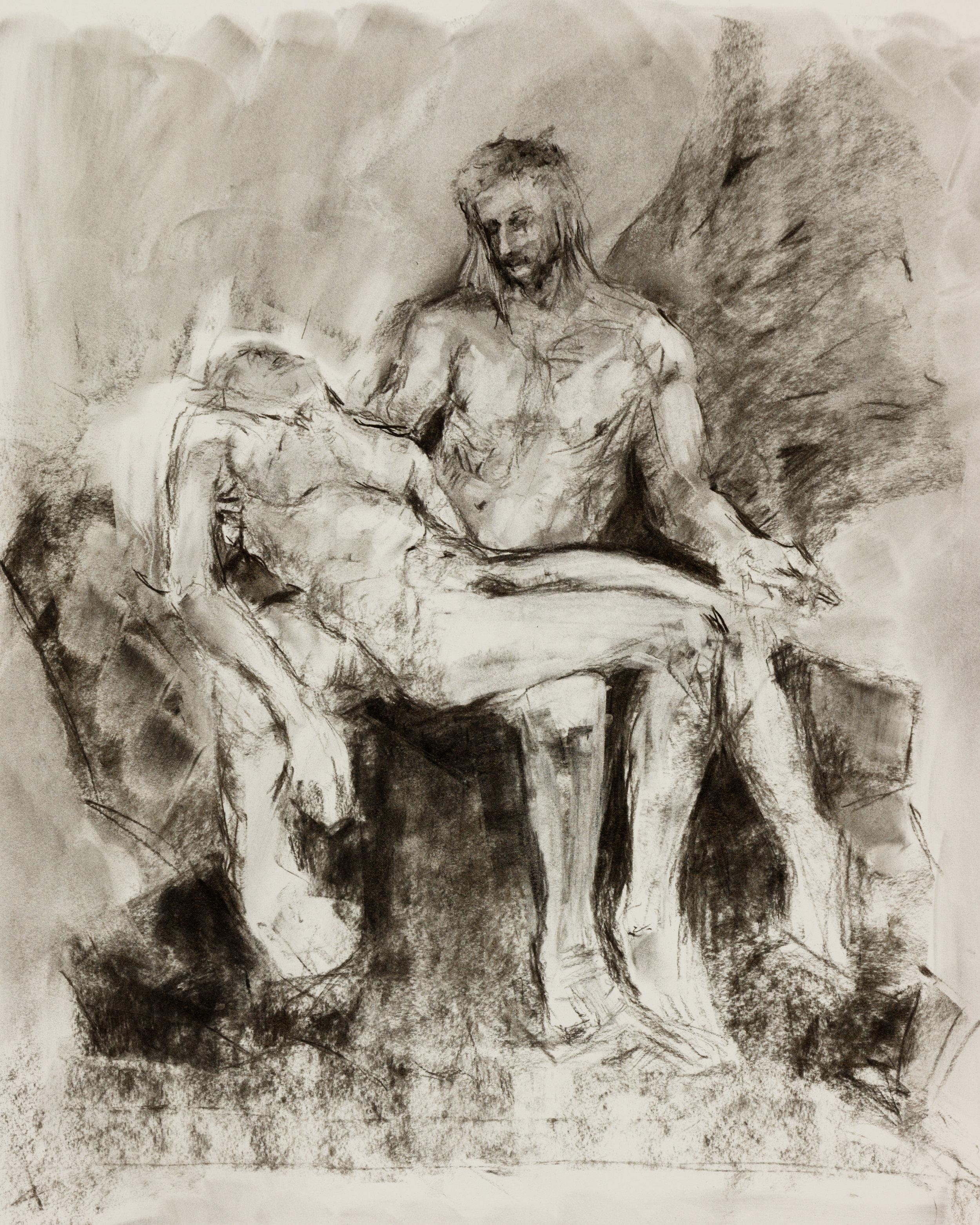 Gender Reversal of Michelangelo's Pietà