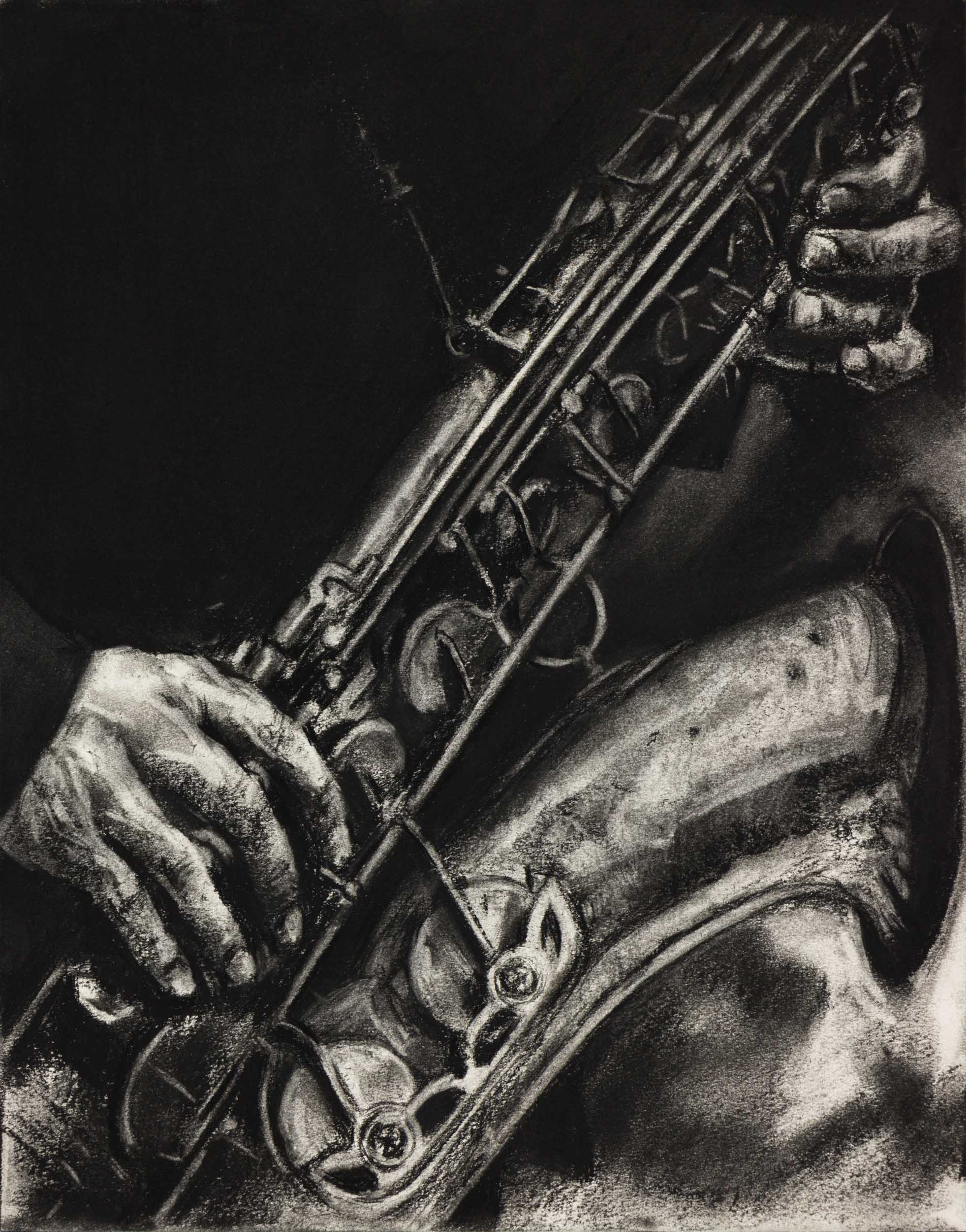 """Media : Charcoal on Paper  Size : 14"""" by 17""""  Date : Dec 2016   PURCHASE PRINT  (request)   Ref Photographer :  Andreas Timm"""