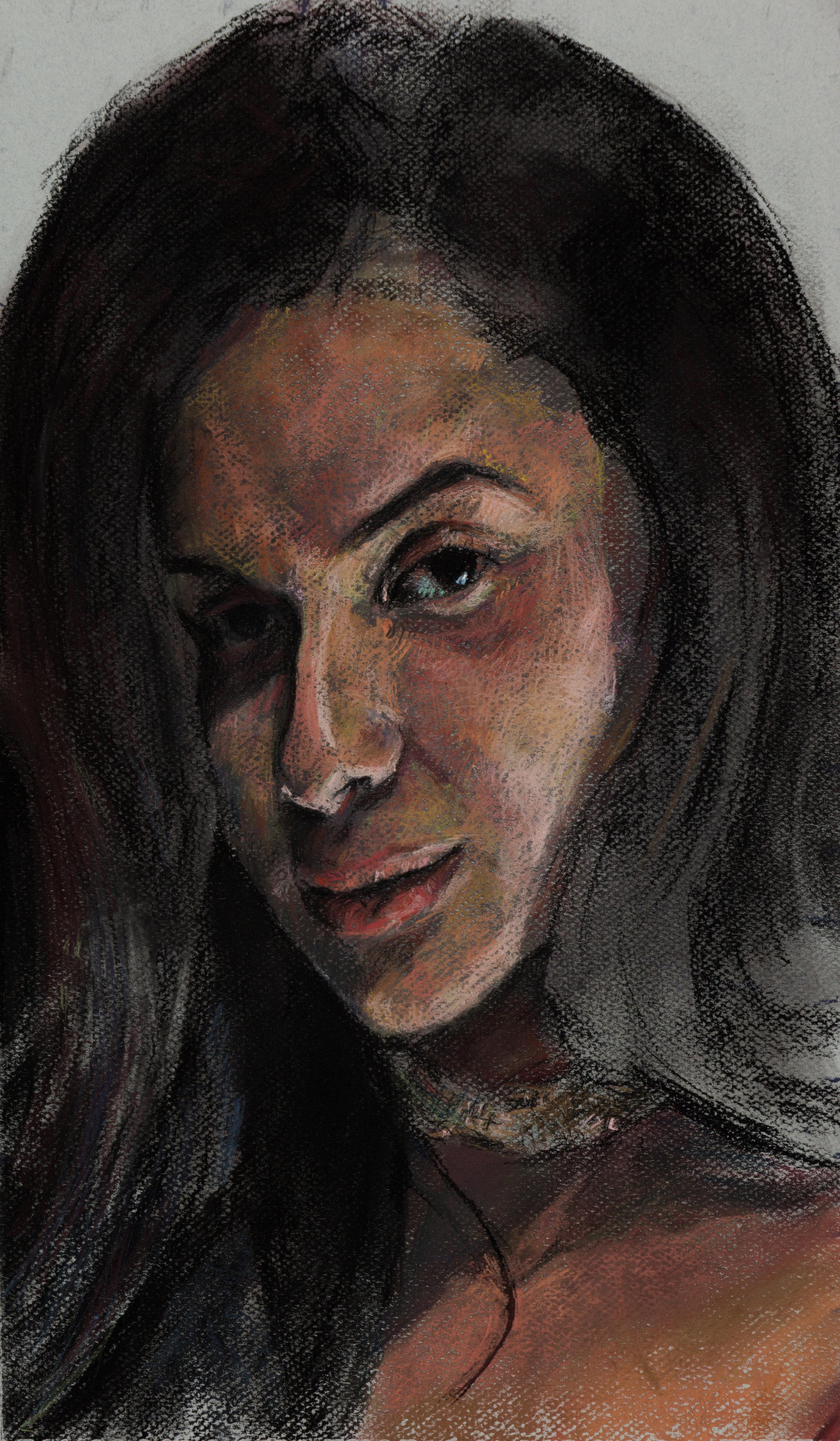Crista, Oil Minstrel Portrait Study