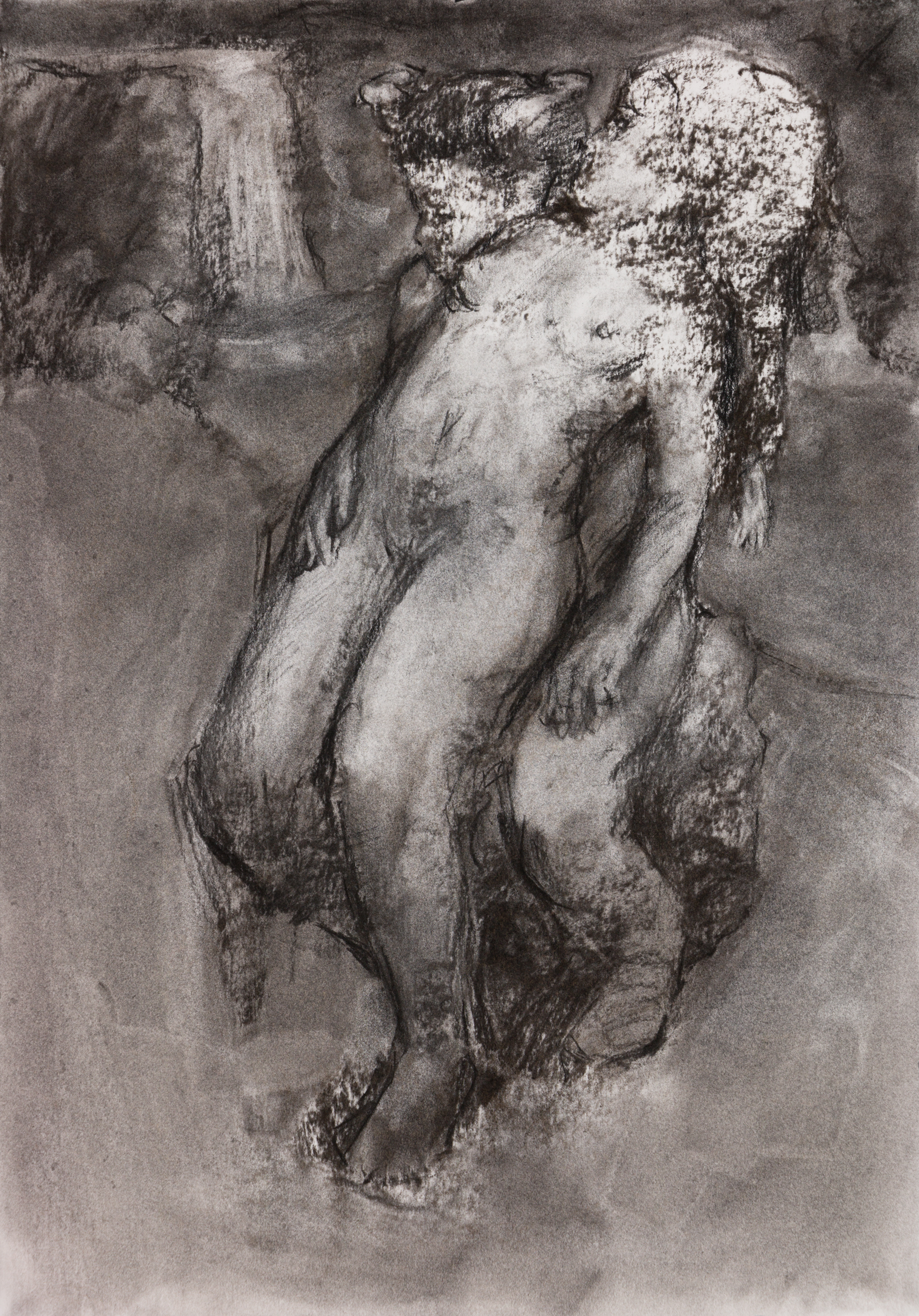 """Series :  Media : Charcoal on Paper  Size : 15"""" by 22""""  Date : Jul 2018  PURCHASE PRINT (coming soon)"""