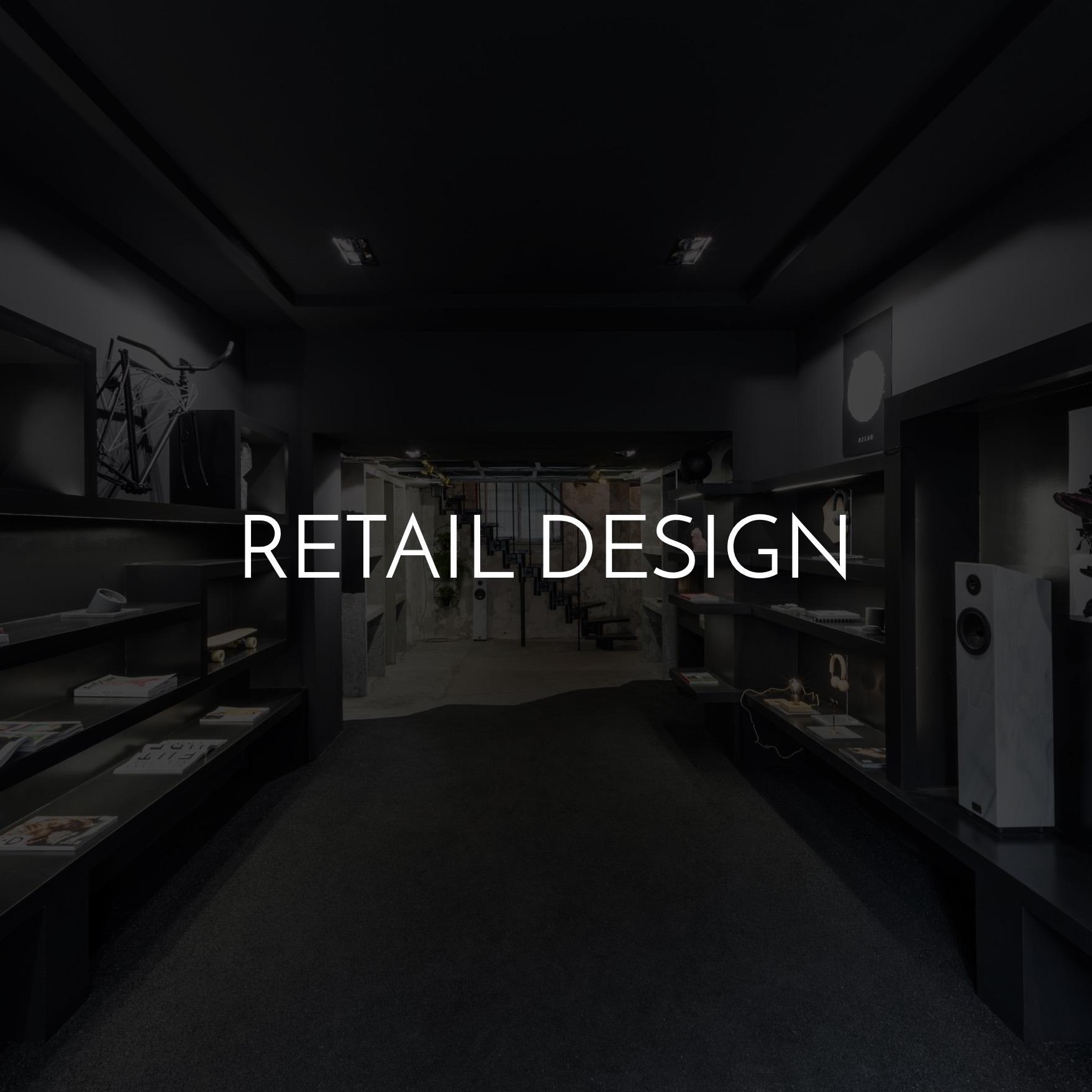 Store design in Milan
