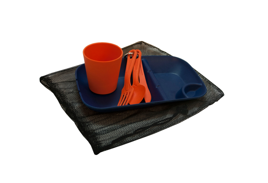 Servicio de mesa para acampada de Ecosoulife elaborado con bambú biodegradable