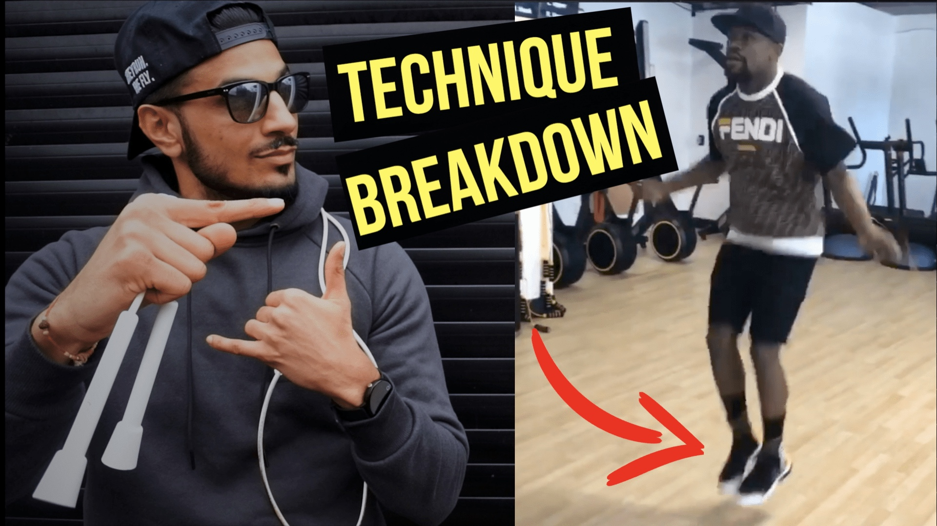 Click here for Rush's technique breakdown of Mayweather using the R.A Speed Rope