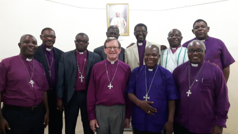 May 2018: Bishop Christopher in Ghana with his partner Bishops