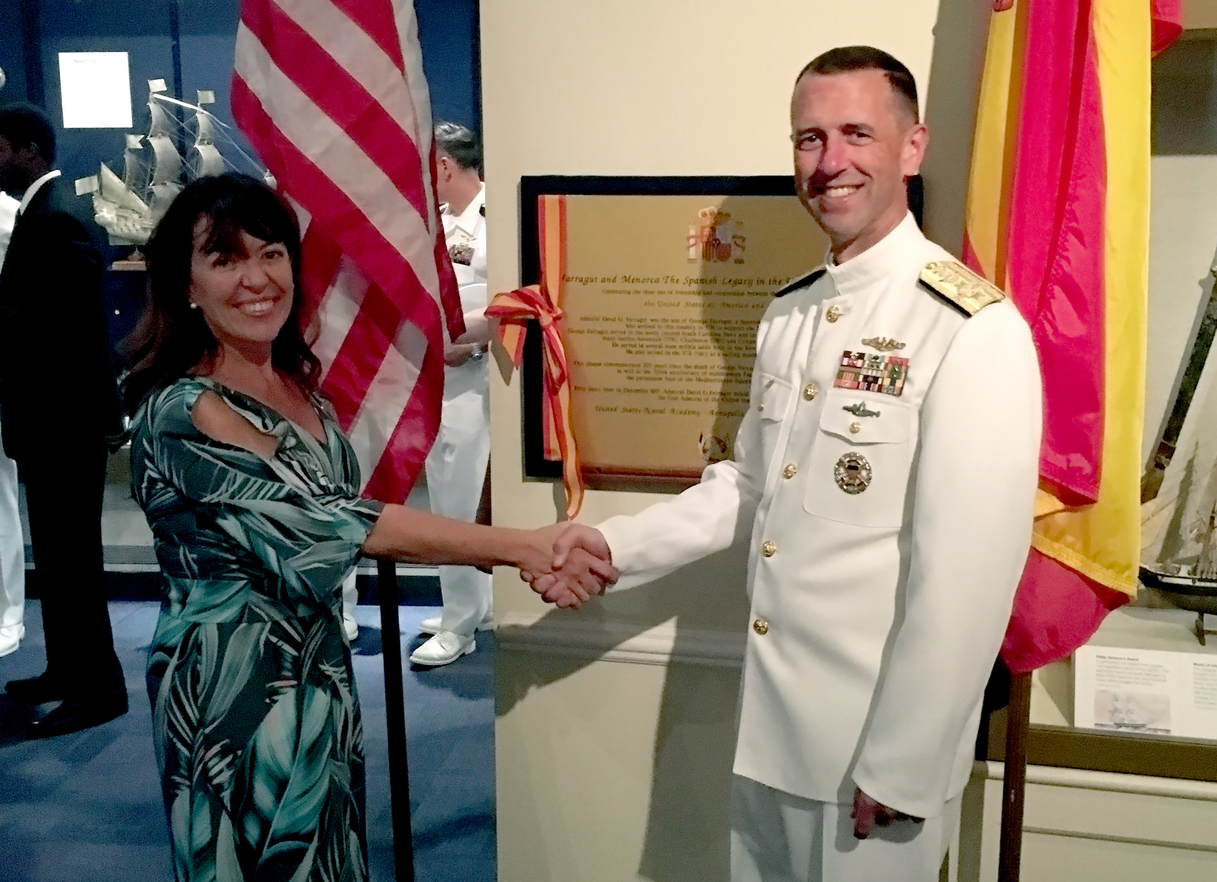 President Garcia with U.S. Chief Naval Operations Admiral Richardson.