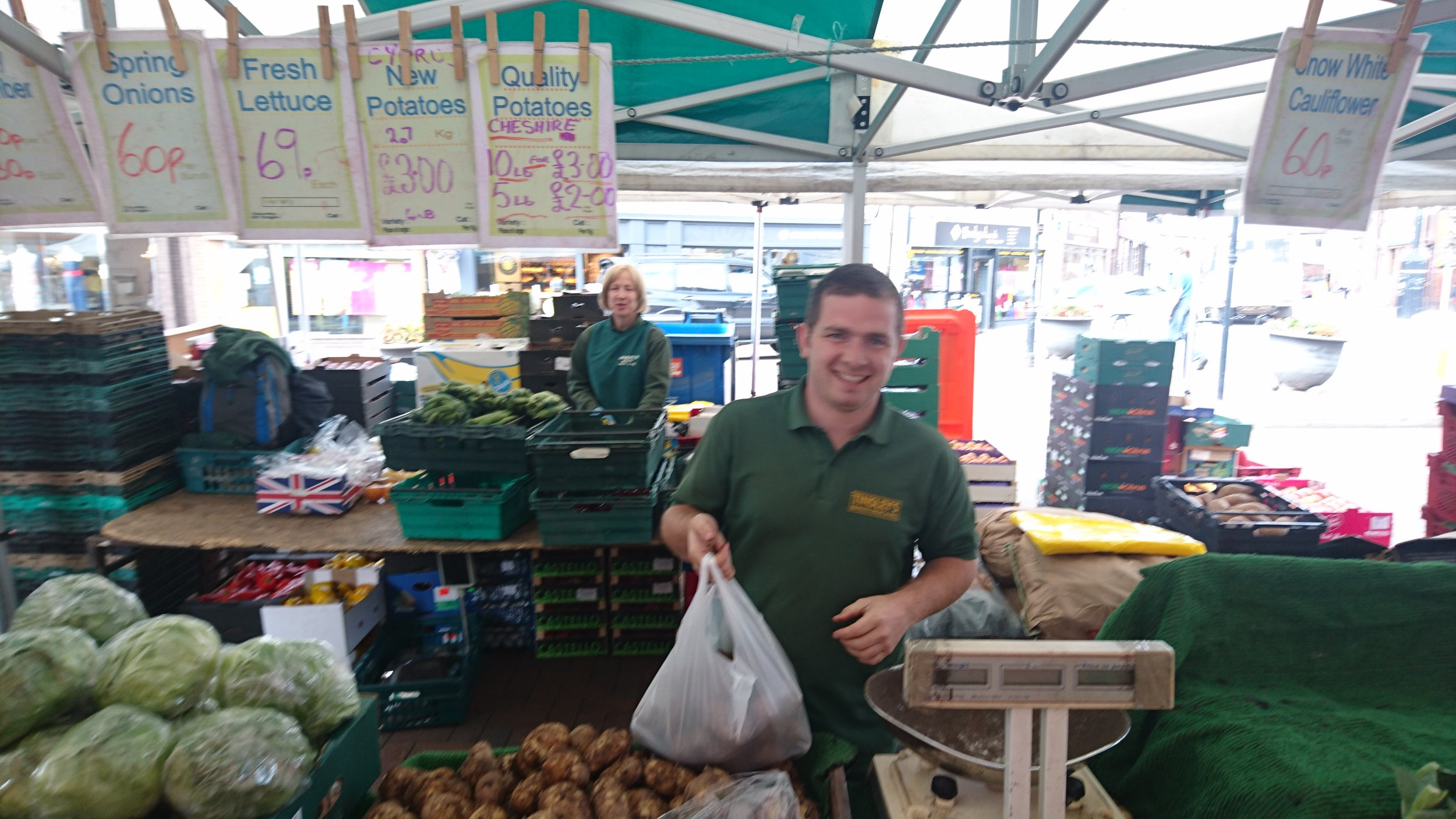 Tinsley Fruit & Veg - Location: Outdoor MarketTrading: ThursdayContact: tinsleys@ntlworld.comVisit our FacebookQuality local home grown fruit and veg.