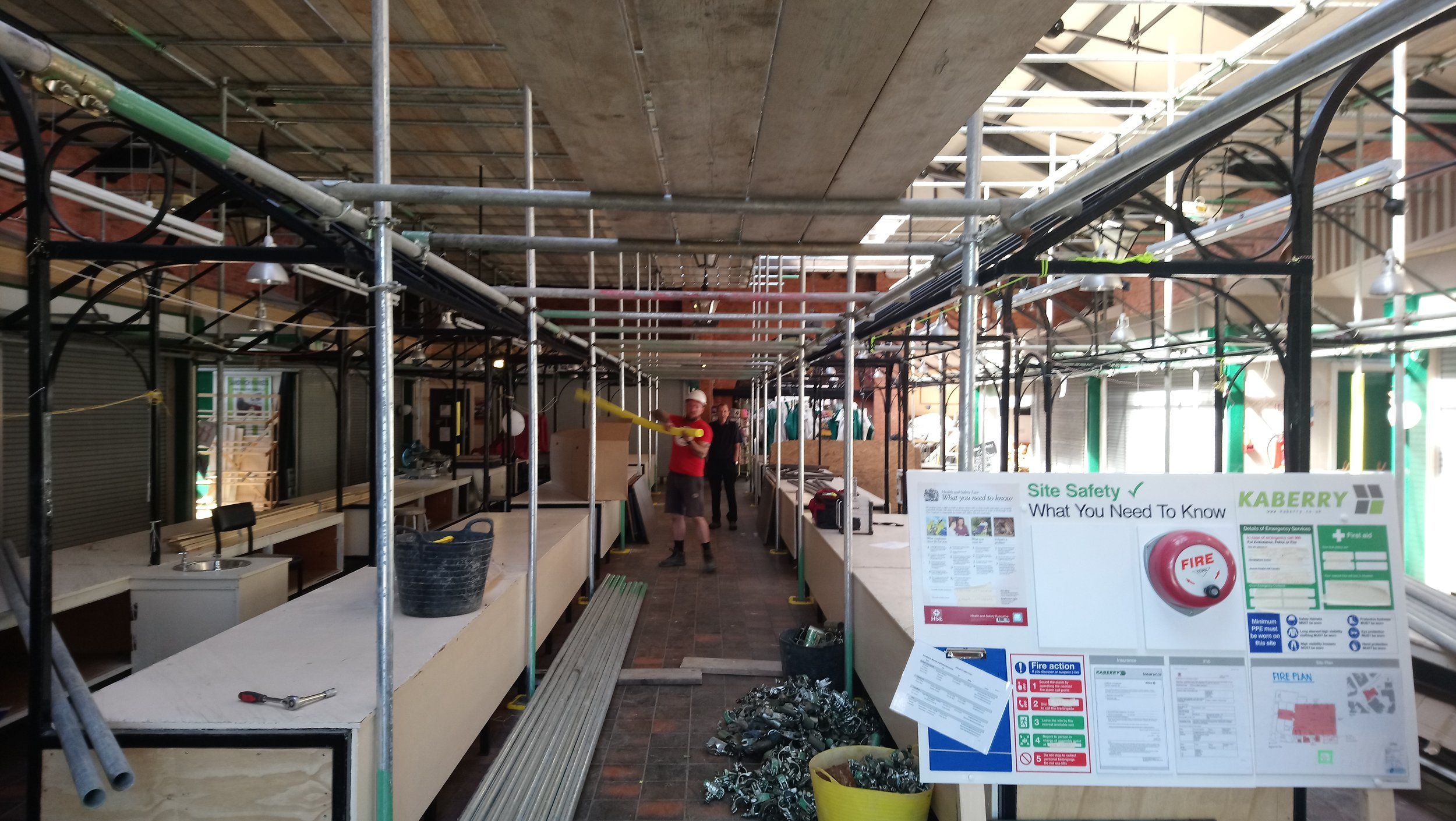 Week 4 -This week the scaffolding is currently being erected in preparation for the decorating and electrical works at high level.