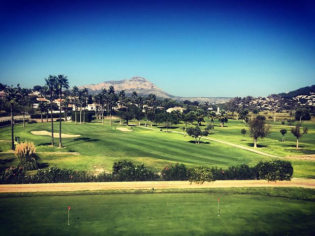 Stunning views from the superb restaurant at @restaurante_club_de_golf_javea