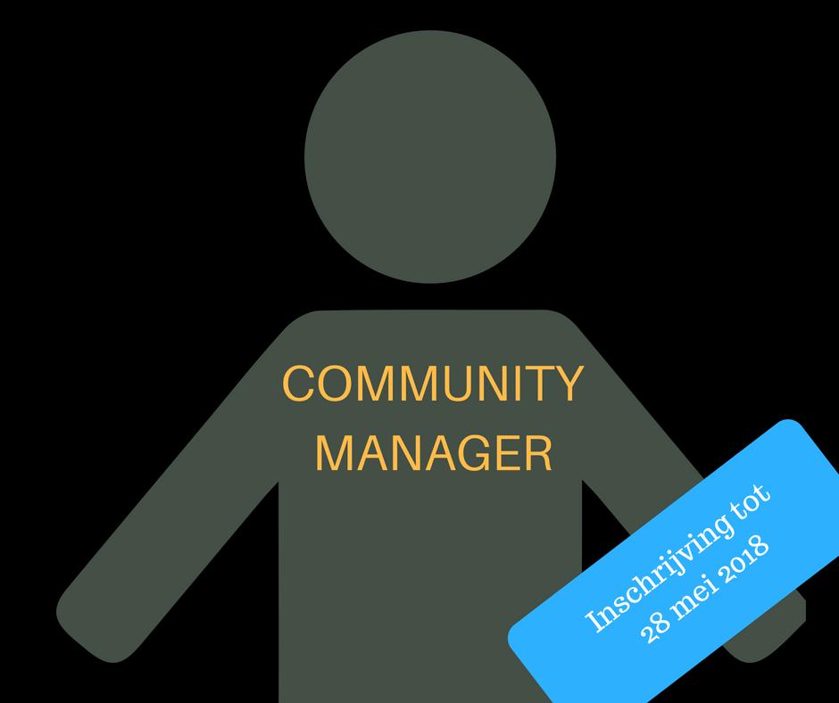 Word onze nieuwe community manager