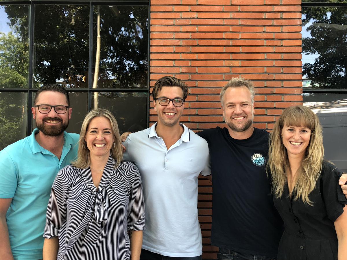 Het No Worries Company Team. V.l.n.r: Hans, Lieke, Demian, Erik & Anne