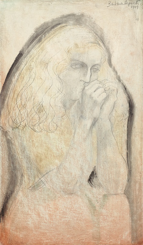 Dame Barbara Hepworth (1903-1975)  Study for Lisa (Hands to Face)  1949, Jerwood Collection. © Bowness.