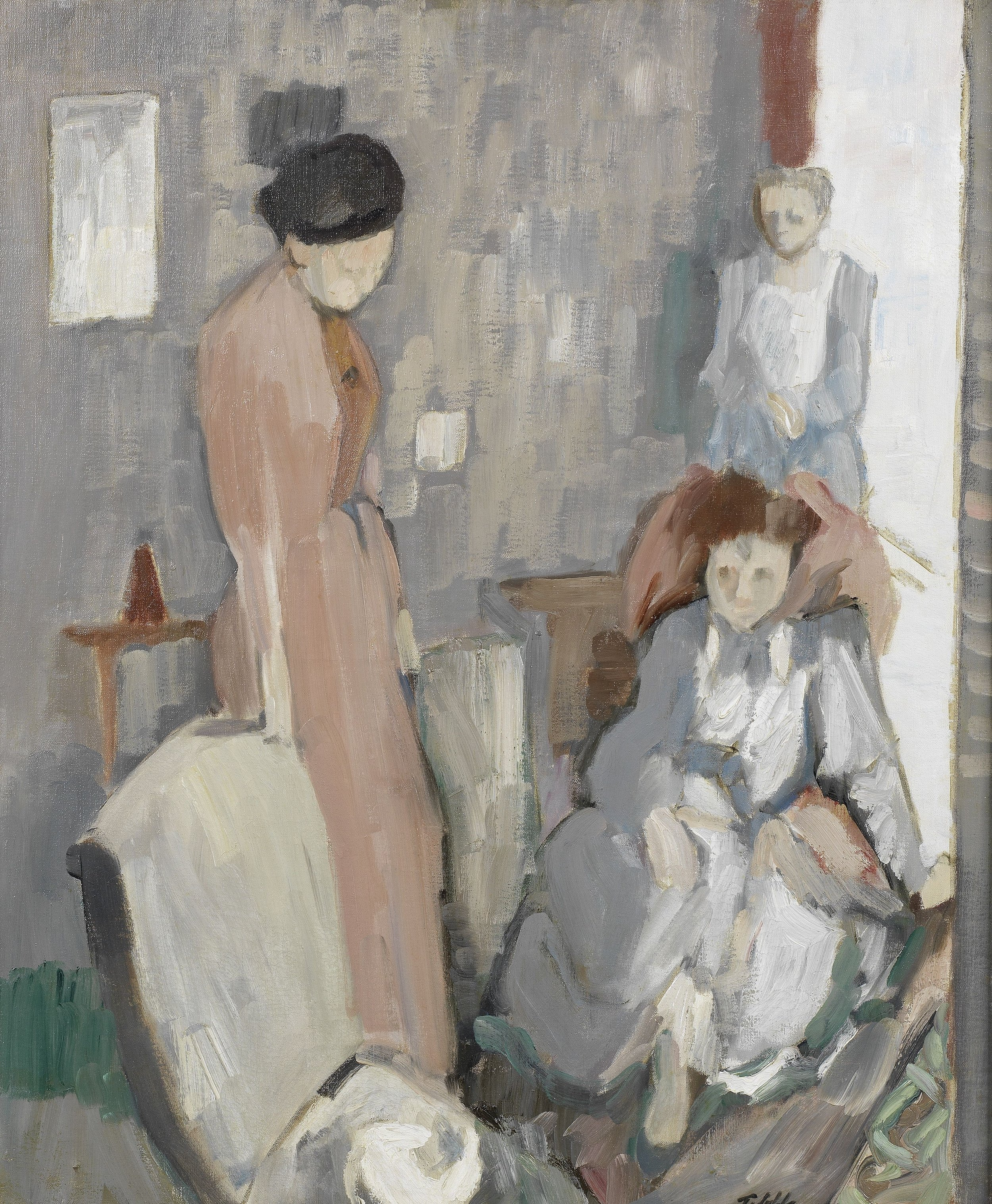 Geoffrey Tibble (1909-1952)  Three Women in an Interior , Jerwood Collection. © Courtesy the artist's estate