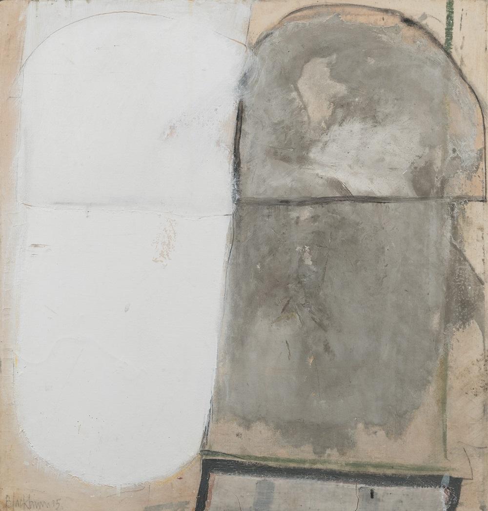 John Blackburn (b. 1932)  Jerwood: Grey with White  © John Blackburn, Courtesy of Osborne Samuel Gallery