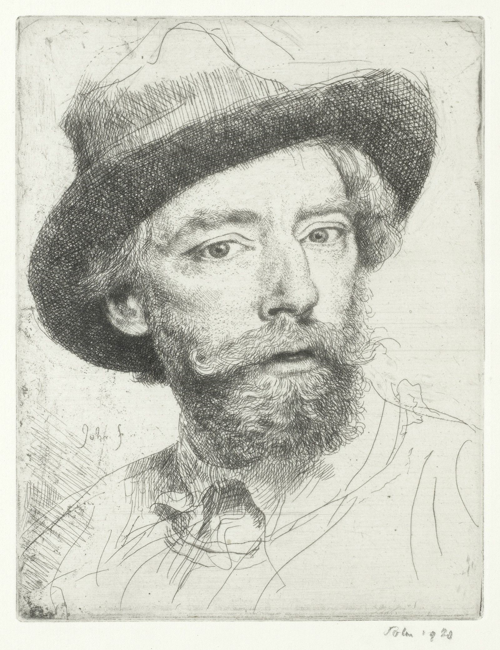 Augustus John OM RA (1878-1961), Self Portrait, Jerwood Collection,  © Augustus John. All Rights Reserved 2019/Bridgeman Images