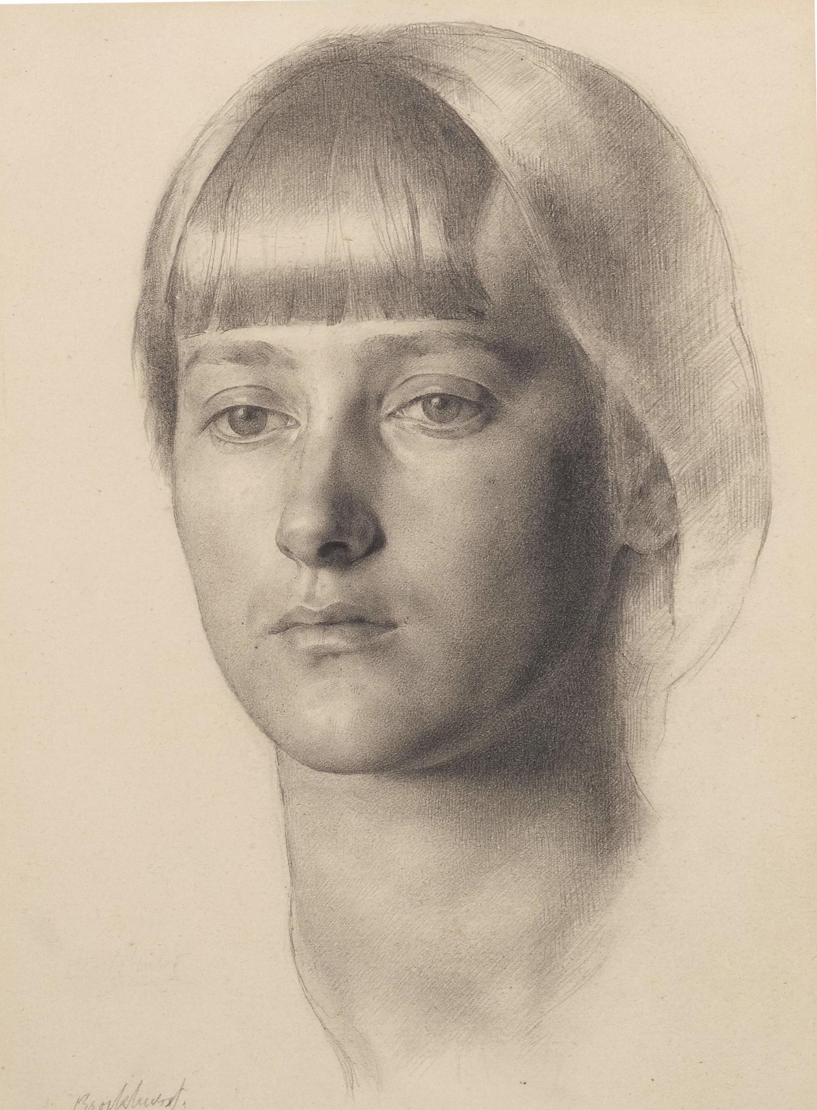 Gerald Leslie Brockhurst (1890-1978), Portrait of Anais Folin, 1914 (c) Richard Woodward