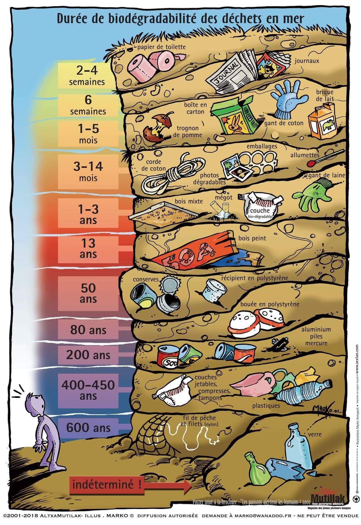 Durée déchets en Mer