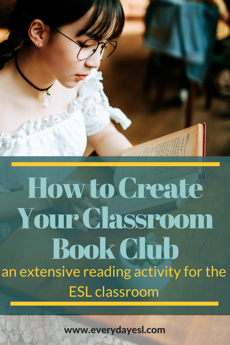 A Reading Activity for Adults: Book Club | Everyday ESL | Extensive Reading | ESL Reading Activities | Teaching English | Reading in English