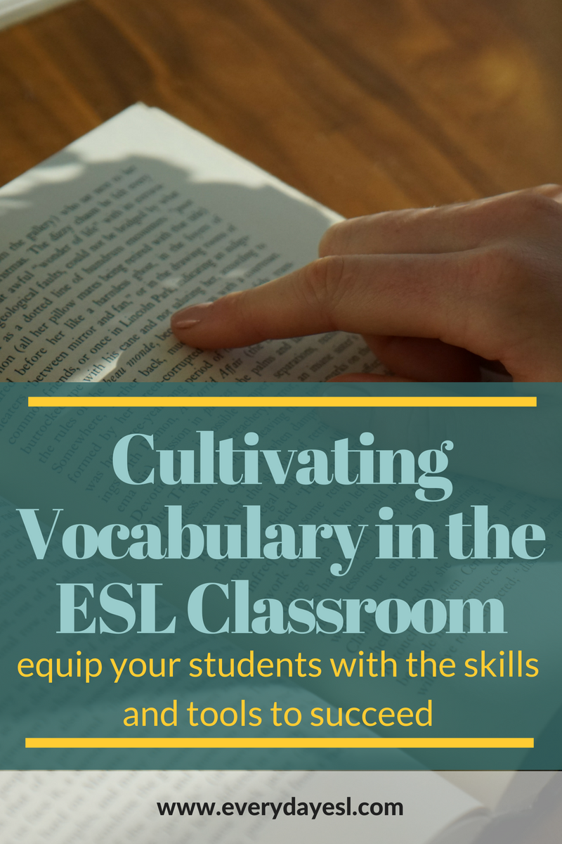 Cultivating Vocabulary in the ESL Classroom | Everyday ESL | Teaching English | Adult ESL Activities | Vocabulary Activities