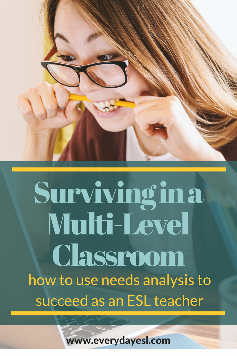 How to Succeed as an ESL Teacher in a Multi-Level Classroom | Everyday ESL | Multi-Level Classroom | How to Test ESL Students | Needs Analysis | Speaking Activities | Learning English | Adult ESL