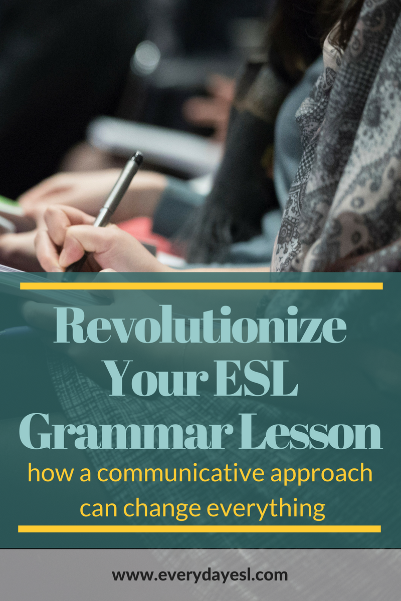 The #1 Method to Revolutionize Your Grammar Lesson | Everyday ESL | ESL Grammar | Teaching English | Everyday ESL | Adult ESL | Communicative Grammar | How to Teach English