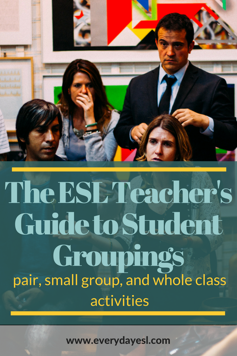 ESL Activities for Adults: Planning Student Arrangements | Everyday ESL | ESL Activities for Adults | Planning Activities | Teaching English | English Language Learning | Lesson Planning | ESL