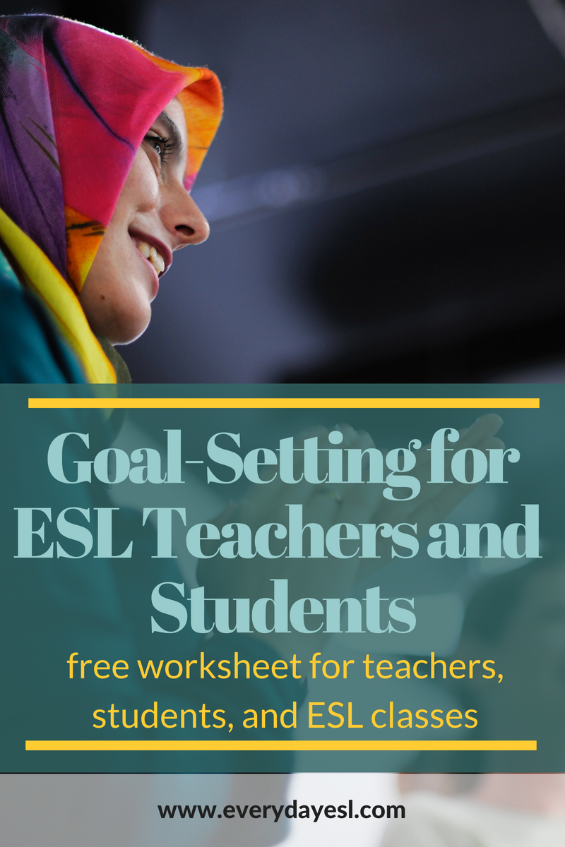 An ESL Teacher's Guide to Setting Resolutions | Everyday ESL | Setting Resolutions | ESL Activities | ESL Teachers | Setting Goals | English Classroom