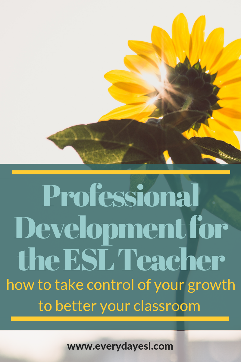 Professional Development for the ESL Teacher: How to Take Control of Your Growth to Better Your Classroom | Everyday ESL | Adult ESL | Teaching English as a Second Language | Professional Development