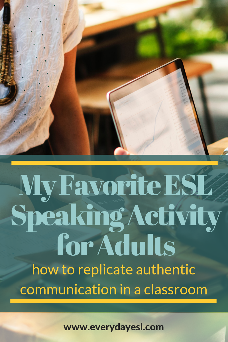 How to Use Information Gap Activities for Authentic Communication | Everyday ESL | Information Gap Activities | Speaking Activities | ESL Activities | Teaching English | Adult ESL