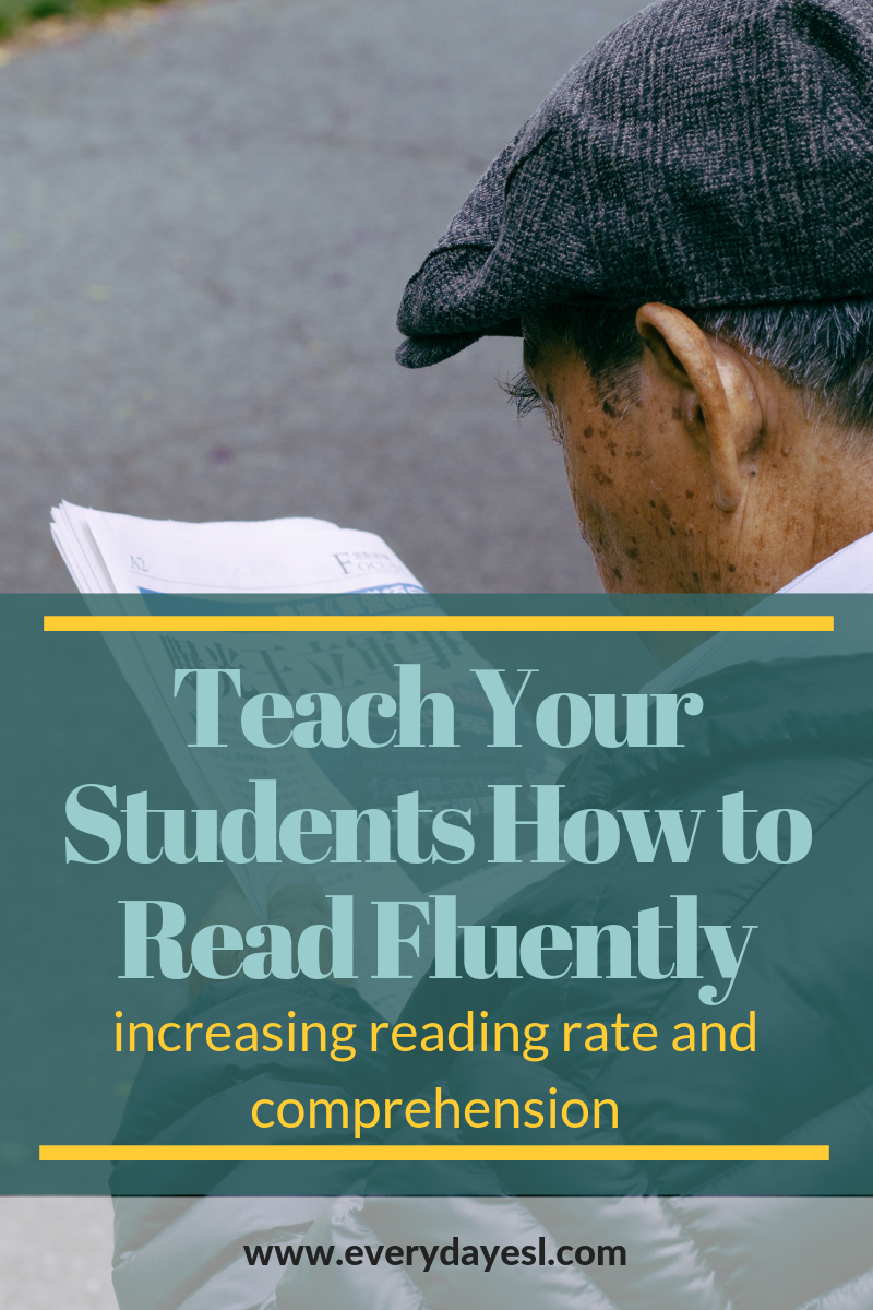 How to Increase Reading Fluency in Your Classroom   Everyday ESL   Reading Fluency   Reading Rate   Reading Comprehension   Adult ESL   Teach ESL