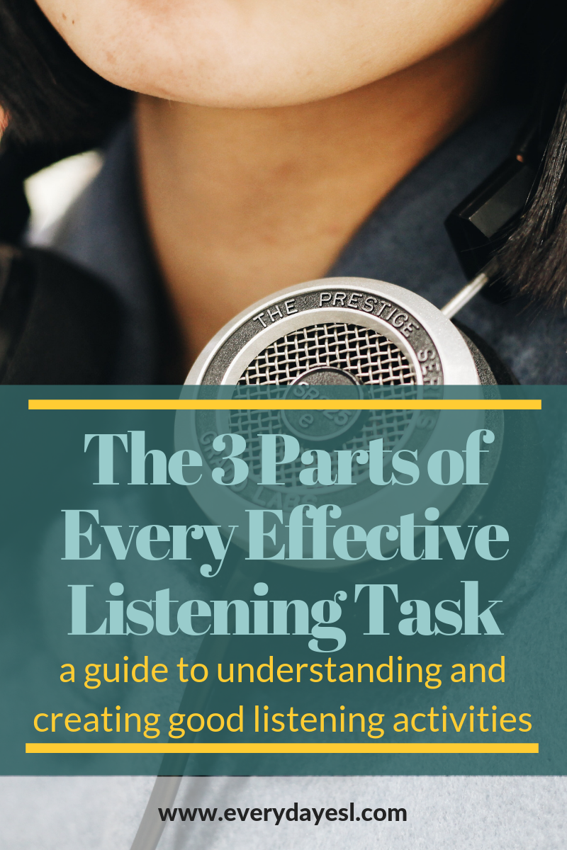 The Three Parts of a Listening Exercise | Everyday ESL | Teaching Listening | ESL Listening | Listening for Adults | How to Teach ESL