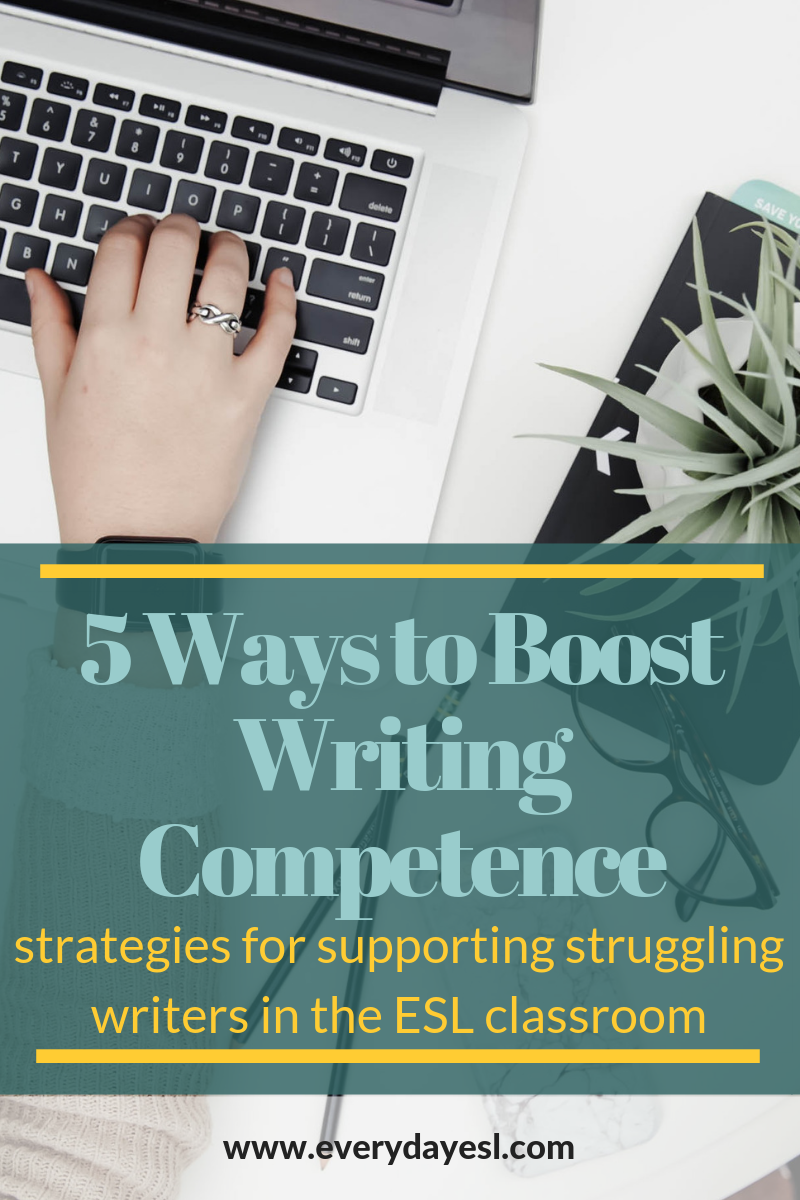 Supporting Struggling Writers: 5 Ways to Boost Writing Competence | Everyday ESL | Adult ESL | Writing Competence | ESL Writing | Feedback | Teaching Writing