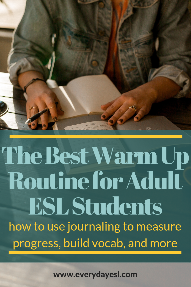 The Best Warm-Up Routine for Adult ESL Students | Everyday ESL | Adult ESL Activities | ESL Routines | How to Teach English | English as a Second Language | Adult Education
