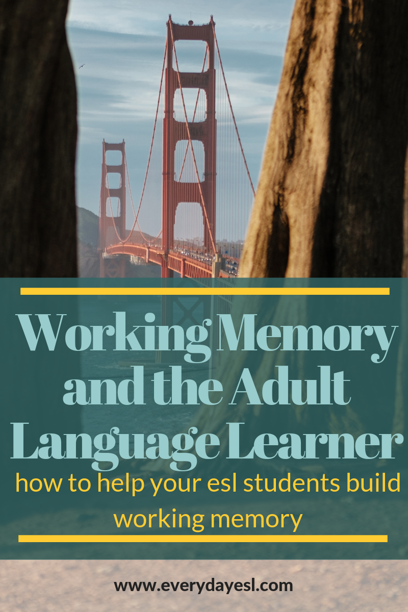 3 Activities to Help You Strengthen Your Adult Language Learners' Working Memory | Everyday ESL | Adult ESL | Adult ESL Activities | Language Learning Strategies | Learn English Quickly