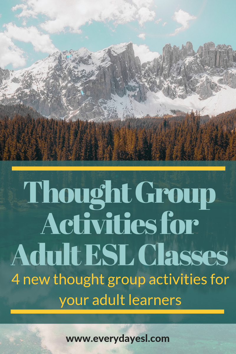 4 New Thought Group Activities to Help Your Students Improve Their Communication   Everyday ESL   Adult ESL   ESL Activities for Adults   Thought Group Activities   ESL Thought Groups   Adult ESL Thought Groups  