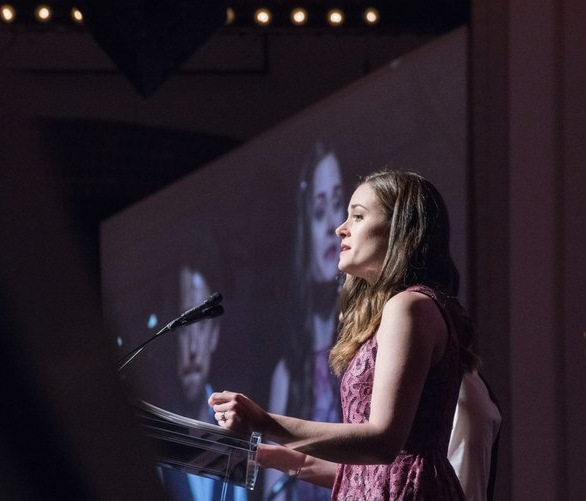 Speaking at CURE's 2017 benefit