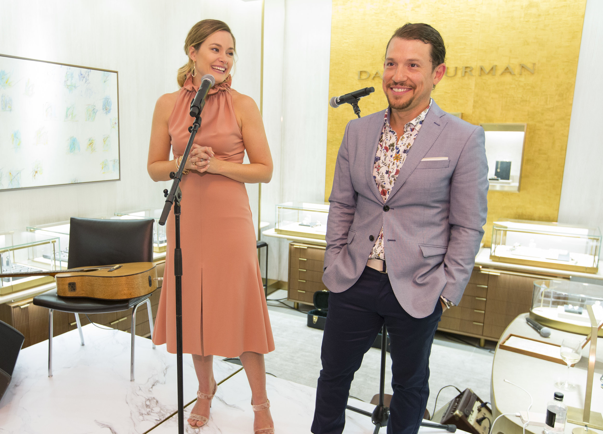 See? Doesn't asking for money look like fun! CURE fundraiser at David Yurman, Sept 2018