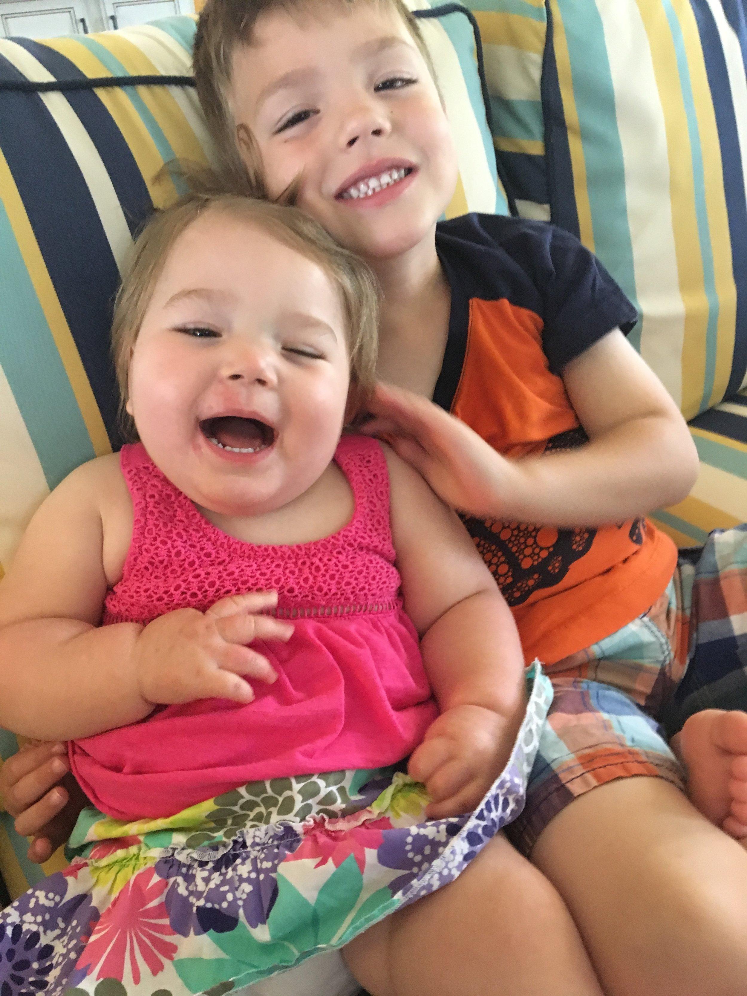 Sibling smile