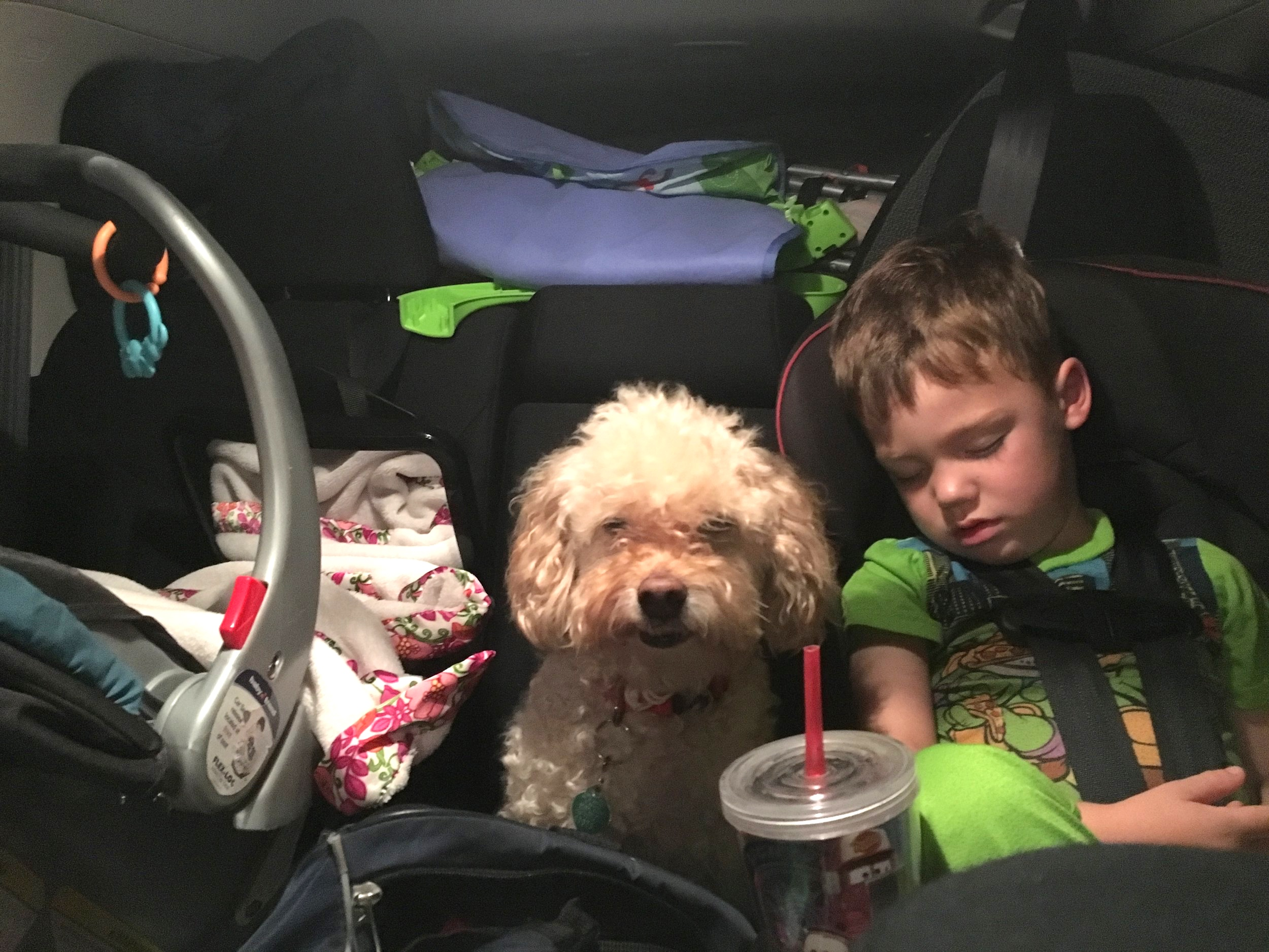 Our car packed to the brim ready to leave New Jersey, Sept 2016