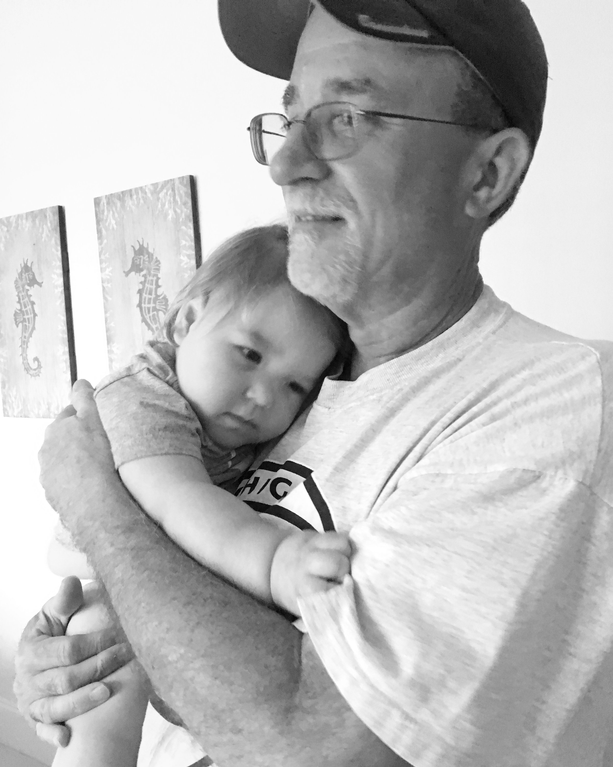 Grandpa cuddles, August 2017