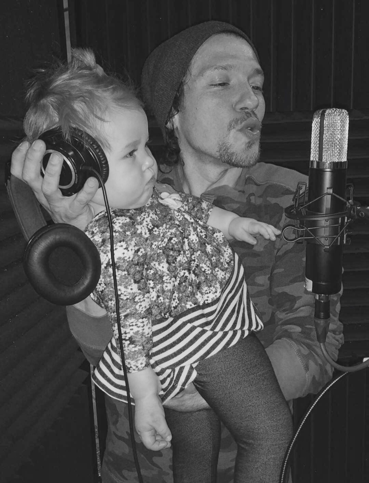 """Helping Daddy record """"'Til The Calm Comes"""""""