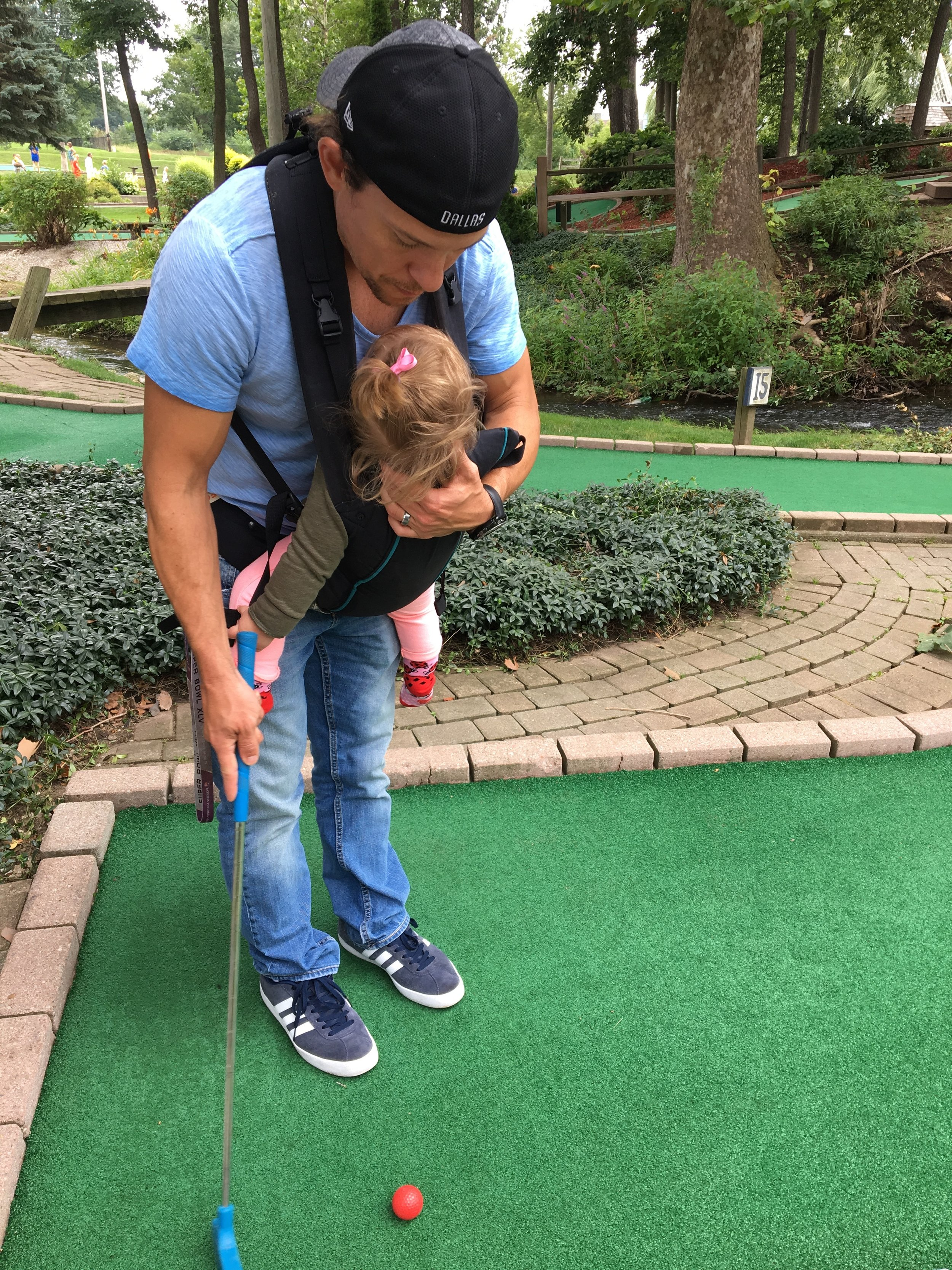 King of making-it-work, seen here wearing Adelaide during a round of mini golf 2 yrs ago that was not accessible. August, 2017