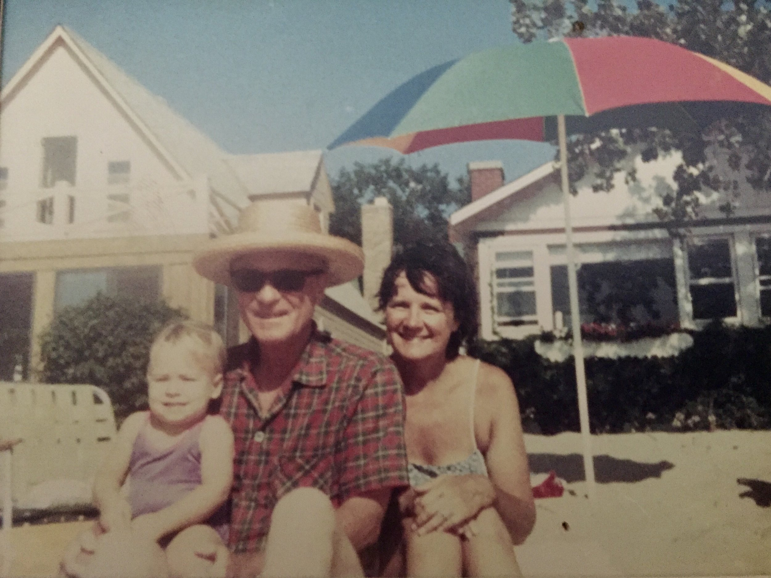 Me with my grandparents in Michigan, Summer 1984