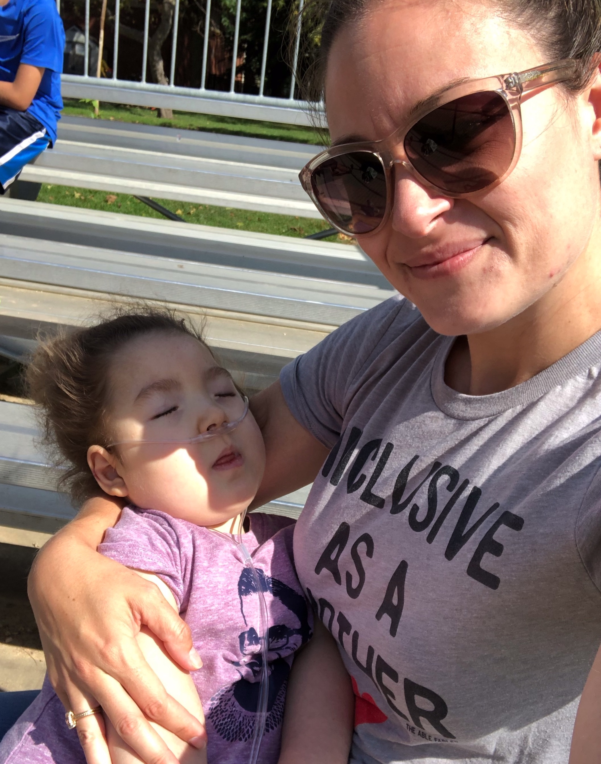 The calm before the mast cell storm at big bro's baseball game. August 2019