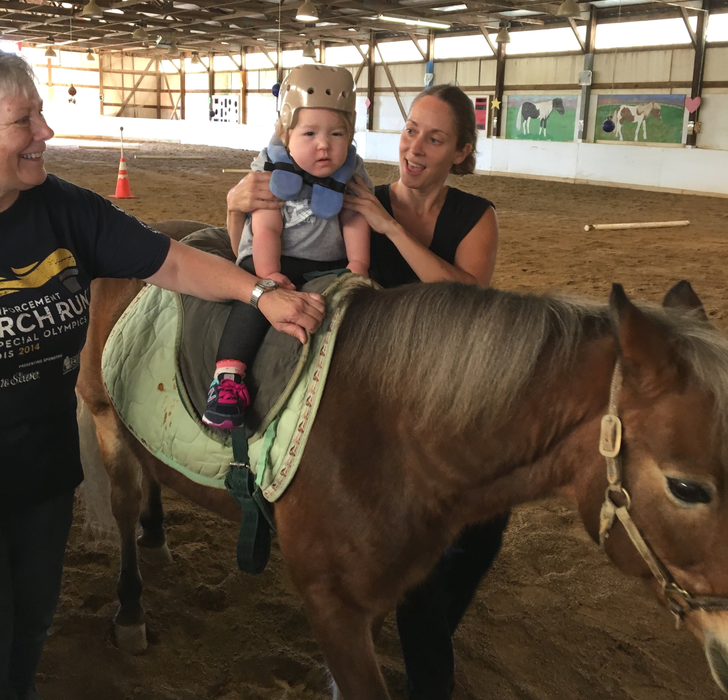 Adelaide and her horse Ernie at hippotherapy October, 2017