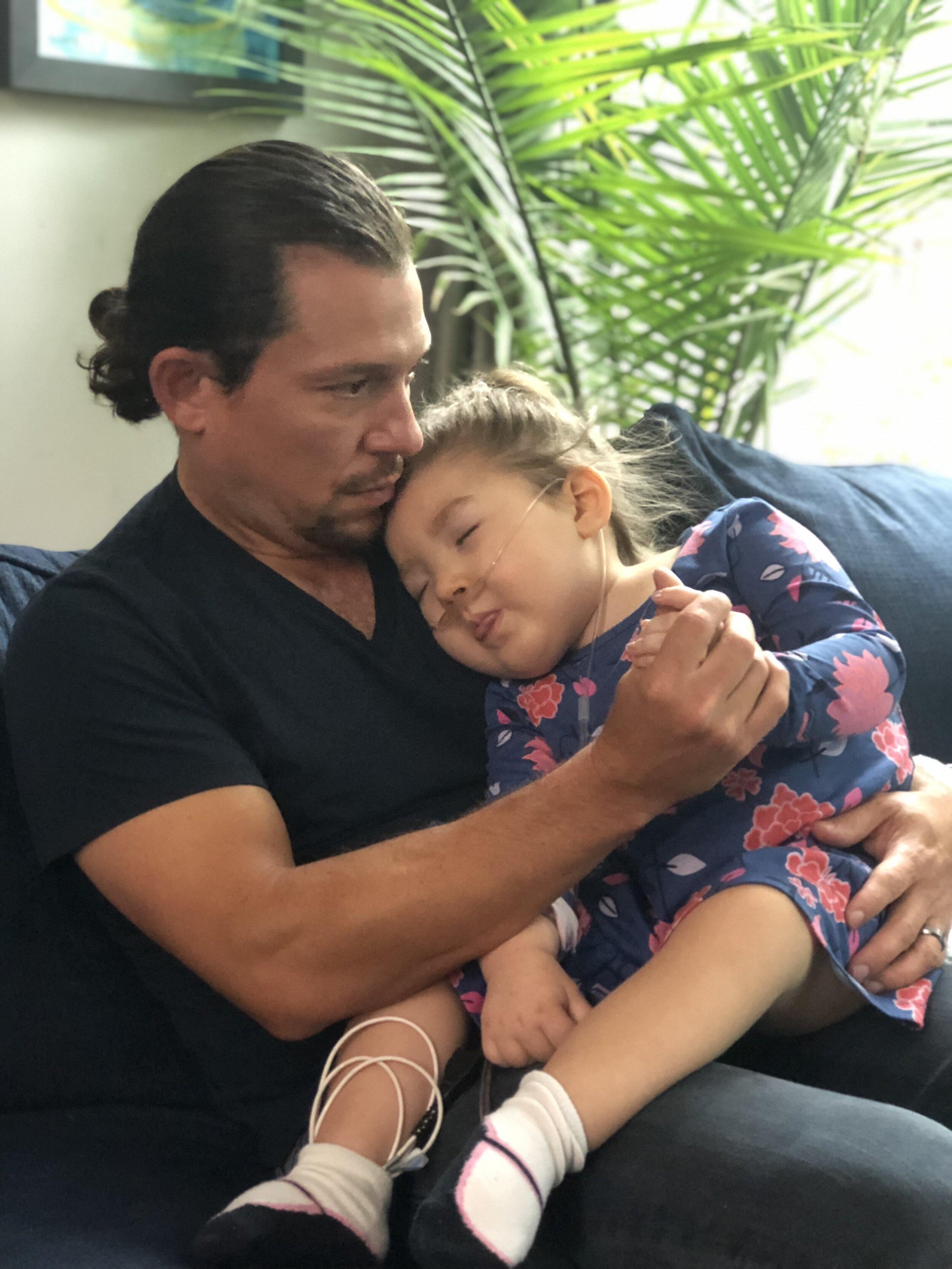 Post seizure snuggles, September 2019