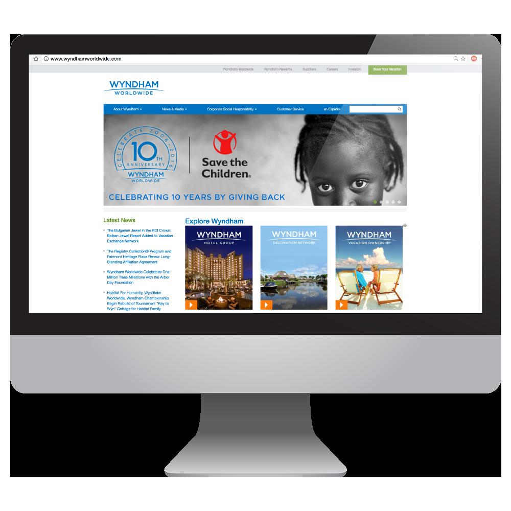 Wyndham Worldwide 10th Anniversary Visual Identity Development