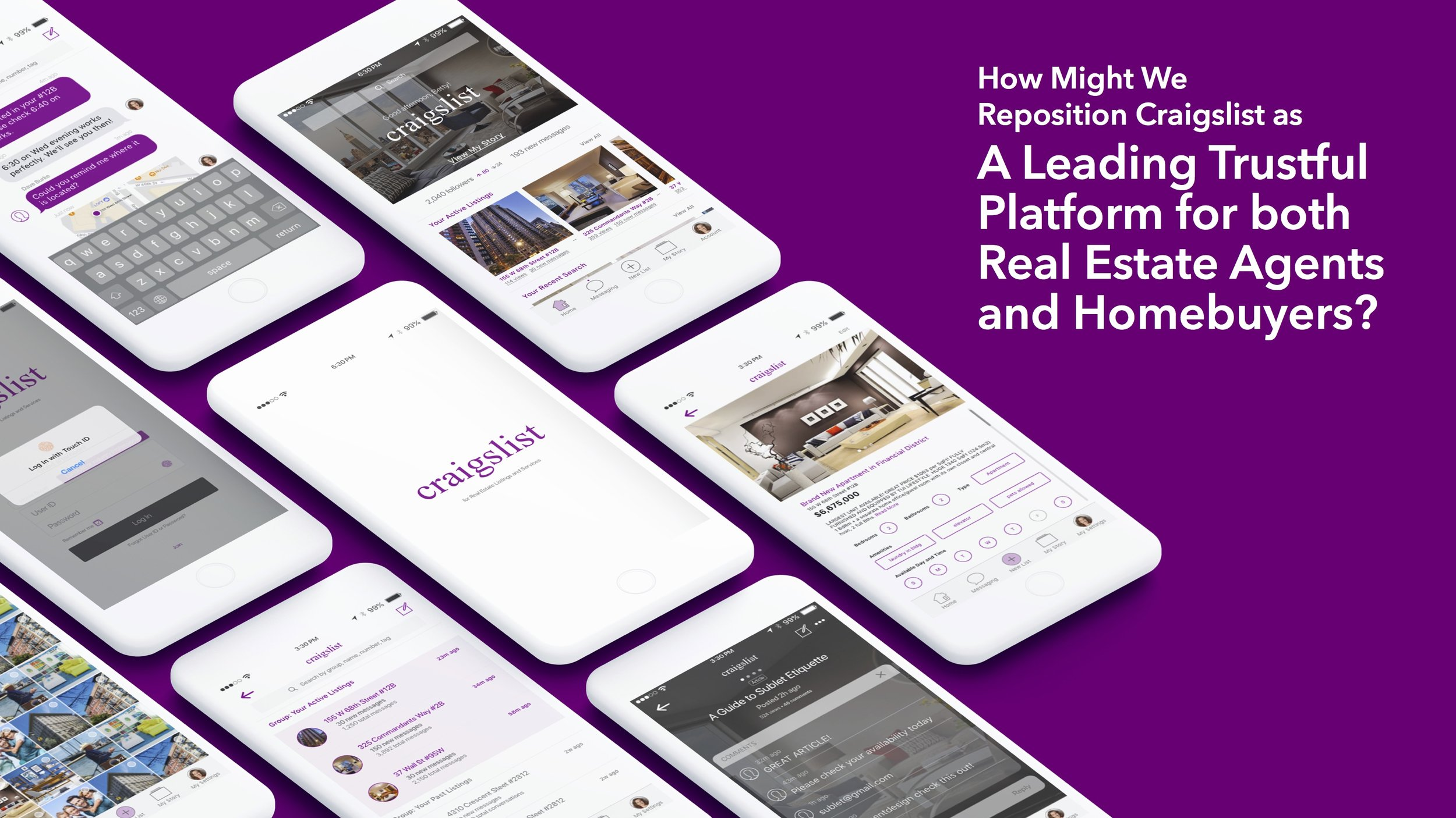 [UX Research / Strategy / Rapid Prototyping]     Craigslist App Idea for Real Estate Brokers